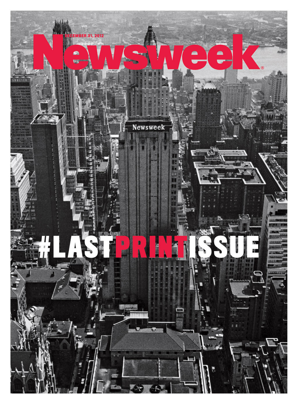 Newsweek says goodbye to print. #lastprintissue