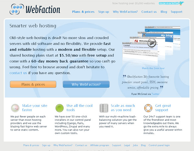 Webfaction in 2010